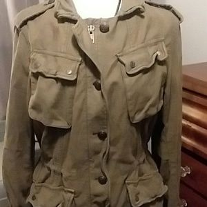 FREE PEOPLE military style jacket